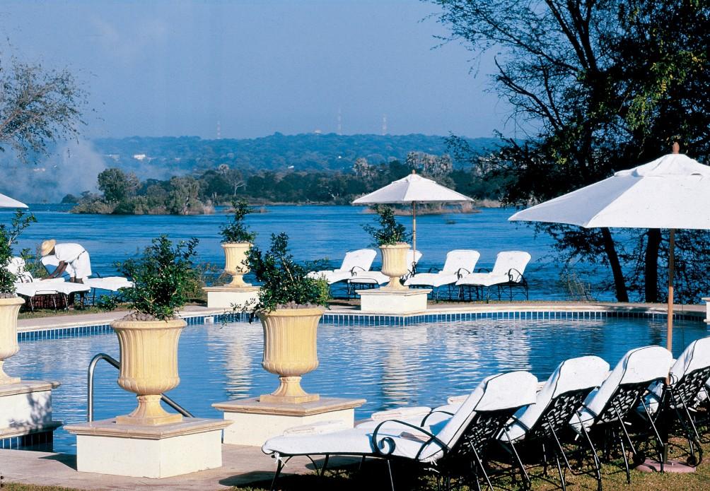 royal livingstone hotel pool victoria falls zambia